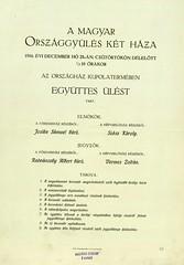 017.A magyar országgyűlés két háza 1916. december 28-án tartott együttes ülésének programja
