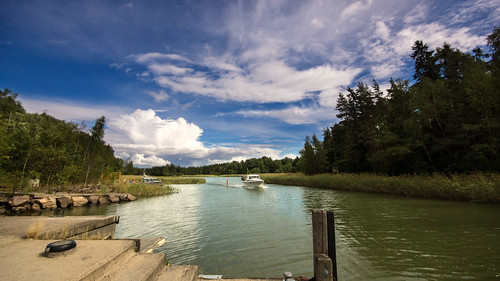 sky cloud espoo finland boat svinö suvisaaristo