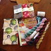 My haul at A Verb for Keeping Warm. And yes, that is organic linen yarn!!!
