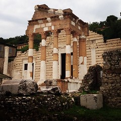 Roman Empire remains BAM! in the middle of Brescia, Italy.
