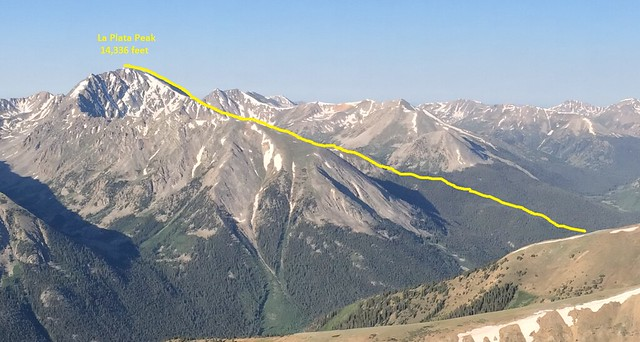 Picture from La Plata Peak, Colorado