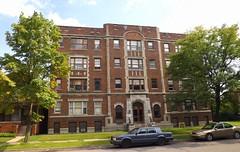 Facade: Weber Apartments, 655 Hazelwood Street--Detroit MI