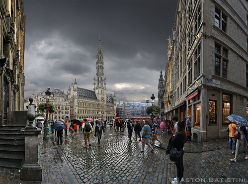 Just after the rain, Great market, Brussels, Belgium