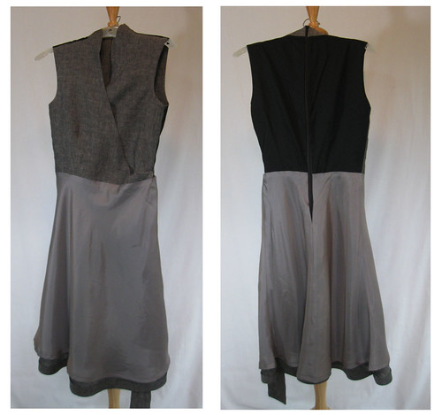 Alice grey dress front and back lining