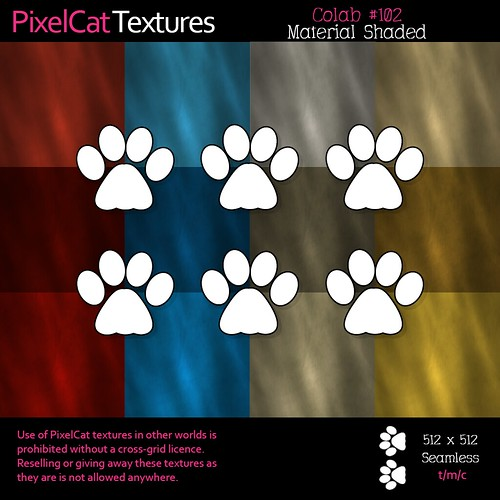 PixelCat Textures - Colab 102 - Material Shaded