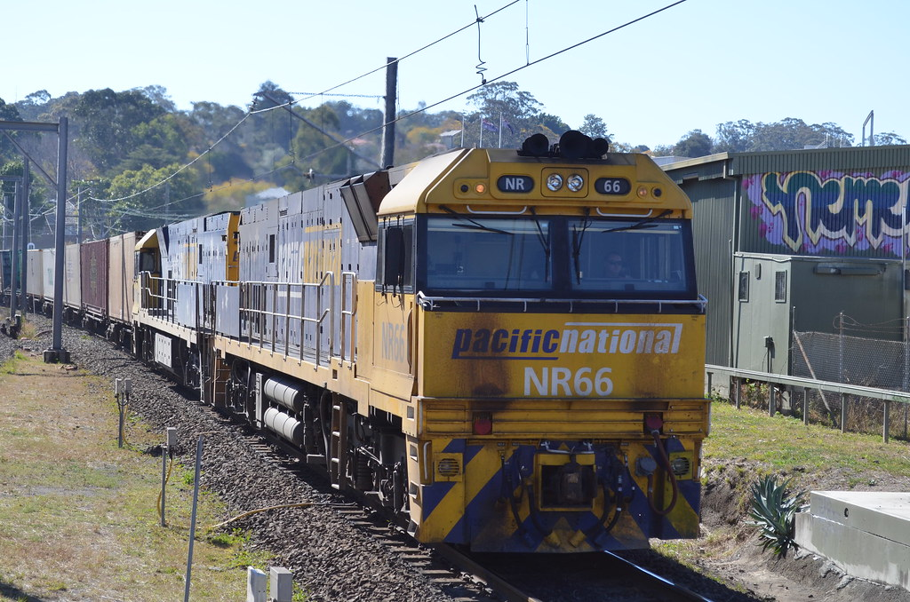 NR66 and NR106 guides 3BM4 through west ryde for melbourne by NR1984