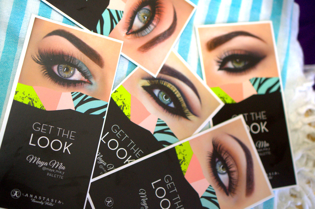 Anastasia Maya Mia palette Get the Look cards