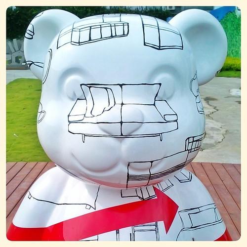 Sofa Face. #taichung #taiwan #bear