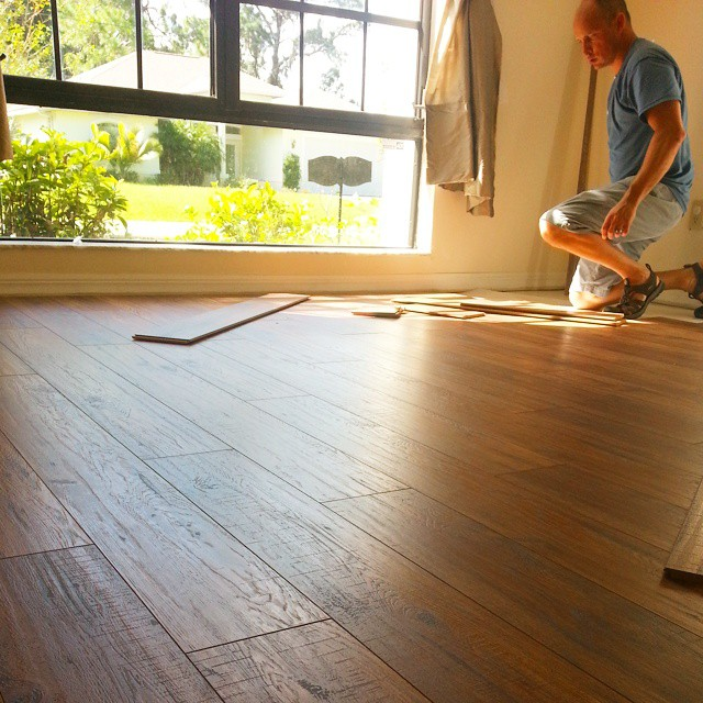 Lovely #hickory floor for the dining room. #remodel #diy #interiordesign