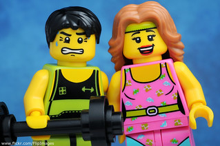 Cute Couple - Fitness Instructor and Weightlifter
