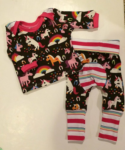 Bumstoppers BumSpot Pants 0-6 months 0-3 Euro Unicorns