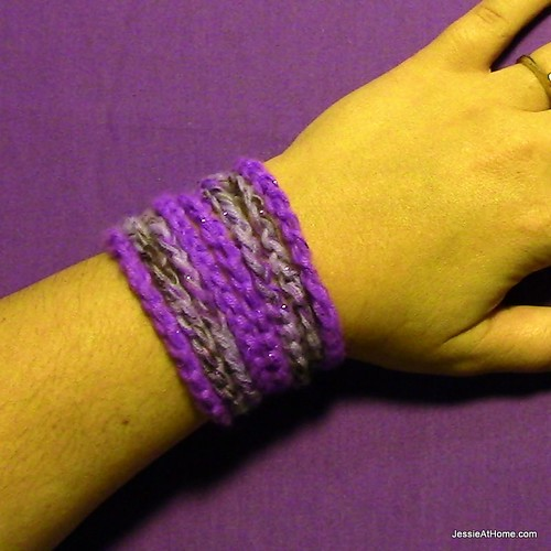 Purple-Chain-Wrap-Bracelet
