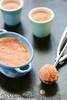 Sorbet pêches agrumes et lait fermente