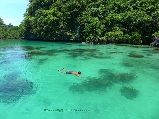 Swimming inside the Big Lagoon.