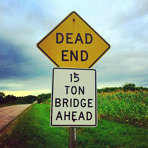#road #sign #warning #bridge #deadend #lynnfriedman
