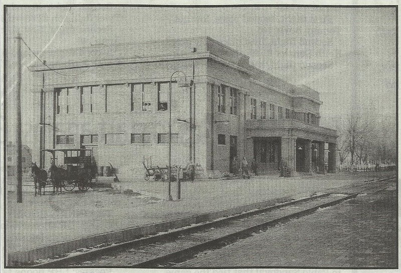 Cropped picture of the depot building