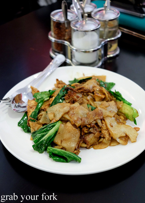 Pad see ew chicken at Do Dee Paidang, Haymarket Chinatown Sydney