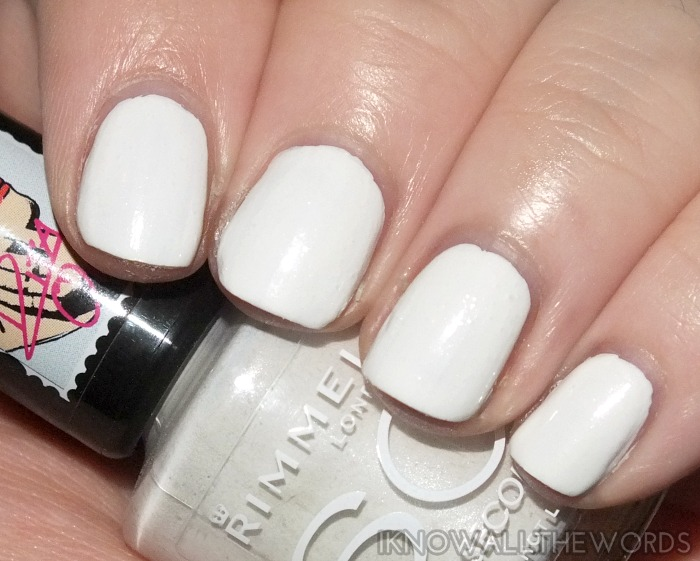 rimmel 60 second nail polish x rita ora- white hot love