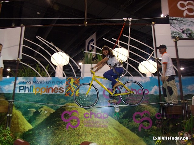 Biking on air at Chocolate Hills Adventure Park Bohol Booth