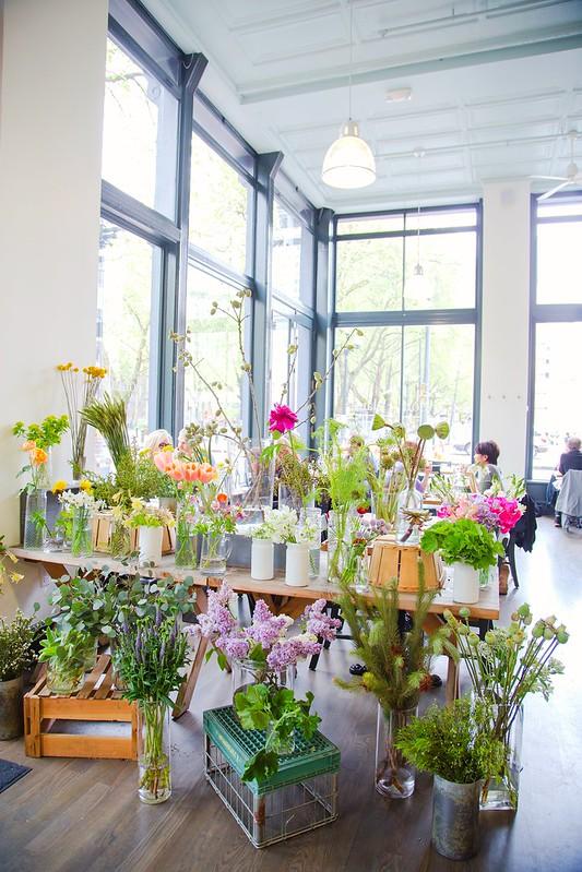 Flower shop at London Plane