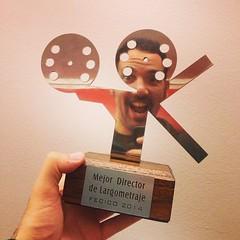 Llegó a mis manos el premio a Mejor Director del #FECICO por #PICHUCO !!!!!!!
