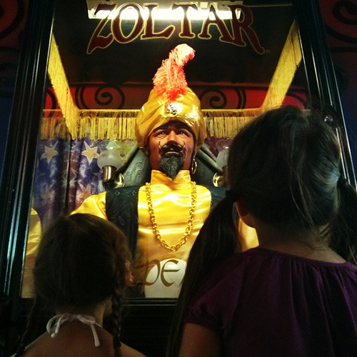 They didn't get a chance to make a wish to be big before Zoltar started talking and scared the bejesusbejesus out of them.