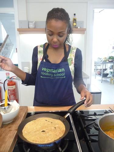 Cooking Rava Dosas