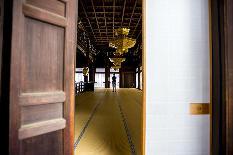 Visiting shrine in Japan