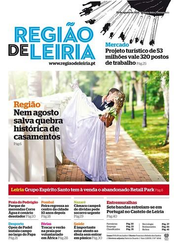 Capa Regiao de Leiria edição 4041 de 28 de agosto 2014