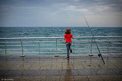 Girl by the Corniche