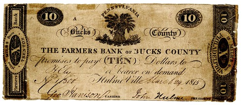 PA, Hulmeville-Farmers B of Bucks County-$010