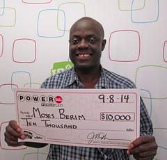 Moses Berim - $10,000 Powerball