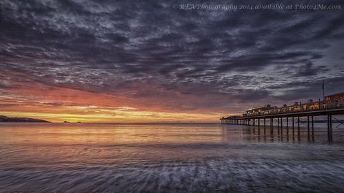 light sea sky beach sunrise dawn pier paignton torbay