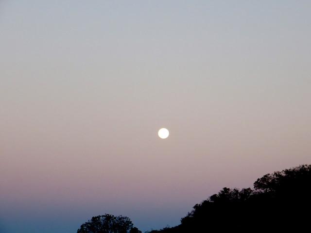 moonset in malibu