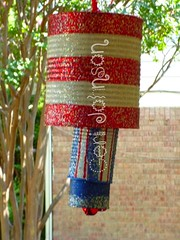 Recycled Tin Can Patriotic Windcime 2