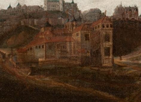 Vista de Toledo. Anónimo. Siglo XVIII. Museo del Greco (detalle).