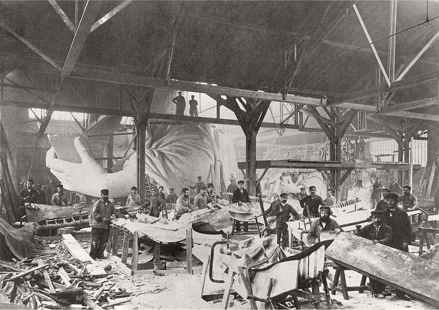 Statue of Liberty under construction  (3/14)