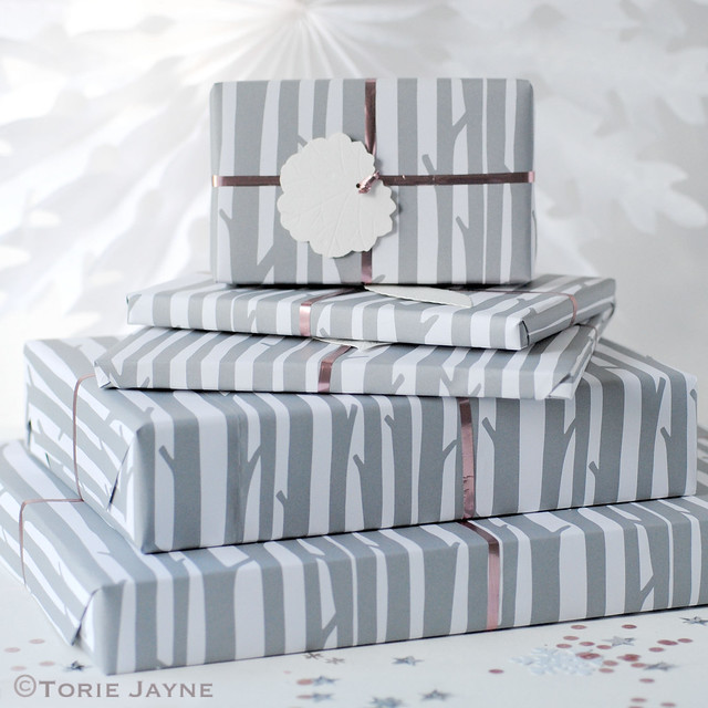 Woodland gift wrap