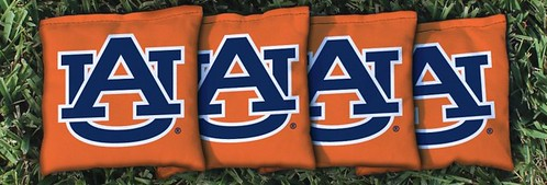 AUBURN UNIVERSITY TIGERS ORANGE CORNHOLE BAGS CORNHOLE BAGS