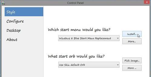 ViStart - wybór konkretnej skórki