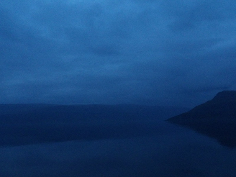Fjords at dusk