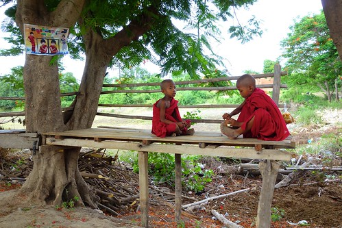 Young Buddhist novices Inwa Myanmar