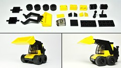 Skid-steer loader (Small Lego Toy - MOC)