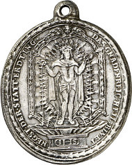 Erding. Pilgrimage Church Holy Blood. Silver pendant obverse
