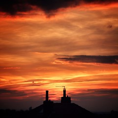 Chimney Pot Sunset over #leeds   ...practically perfect in every way