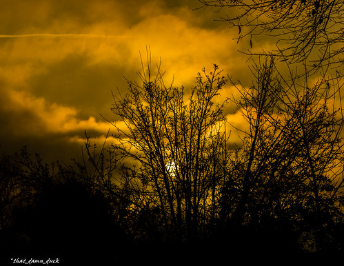 sundown nature clouds sunset sun