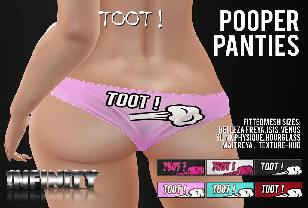 !NFINITY Pooper Panties - TOOT! - SecondLifeHub.com