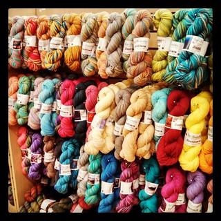 Today is my last day at the #yarnshop until Sept...come #IvyBrambles #sockyarn is well stocked! #knitting #yarn #stashenhancement #getyourkniton #socks