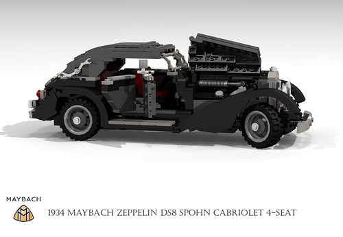 Maybach DS8 Zeppelin Cabriolet Spohn Streamliner (1934)