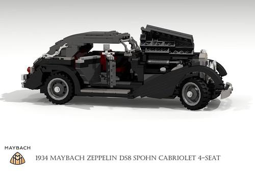 Maybach DS8 Zeppelin Cabriolet Spohn Streamliner (1934)